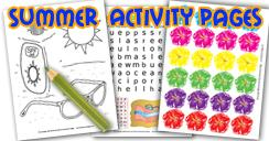 Summer Activity pages